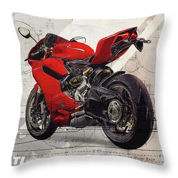 Ducati 1199 Panigale Throw Pillow
