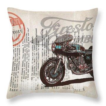 Ducati Gt 750 Throw Pillow