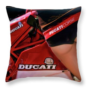 Ducati Model Throw Pillow