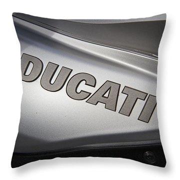Ducati Motorcycle Throw Pillow