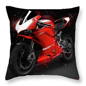 Ducati Panigale R Throw Pillow