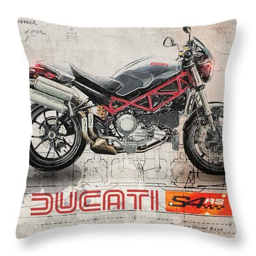 Ducati S4rs Throw Pillow