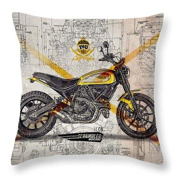 Ducati Scrambler Icon Throw Pillow