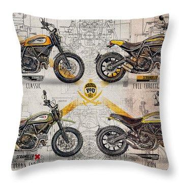 Enduro Throw Pillows