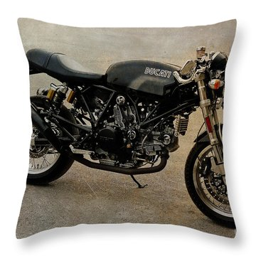 Ducati Throw Pillow by Teresa Zieba