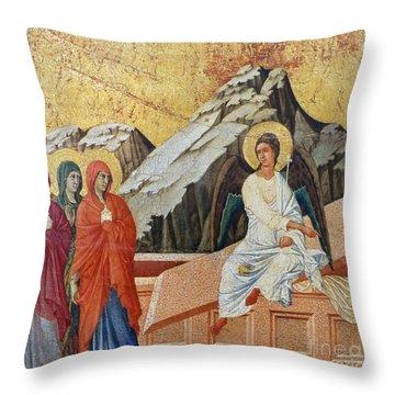 Duccio - Three Marys Throw Pillow by Granger