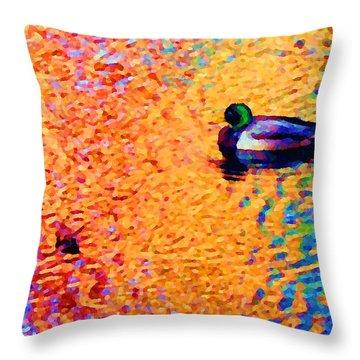 Duck A L'orange Throw Pillow