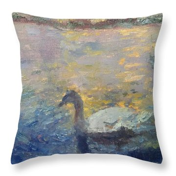 Duck Throw Pillow by Brian Kardell