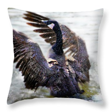Duck Conductor Throw Pillow