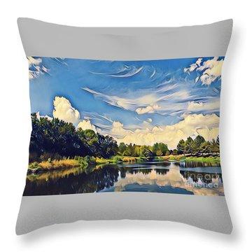 Duck Creek Throw Pillow by Diane Miller