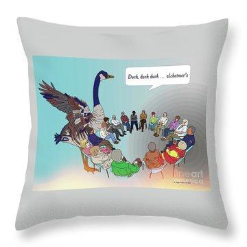 Duck, Duck, Alzheimers Throw Pillow