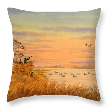 Duck Hunting Calls Throw Pillow by Bill Holkham