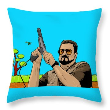 Duck Hunting On Shabbos  Throw Pillow