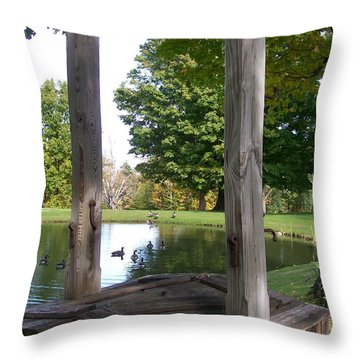 Duck Pond Throw Pillow