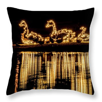 Duck Pond Christmas Throw Pillow