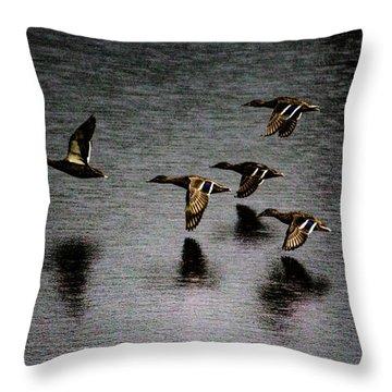 Duck Squadron Throw Pillow