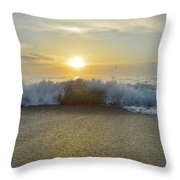 Duck Sunrise Throw Pillow