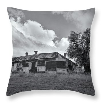 Throw Pillow featuring the photograph Duckholes Hotel by Linda Lees