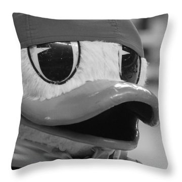 Throw Pillow featuring the photograph Ducking Around by Laddie Halupa