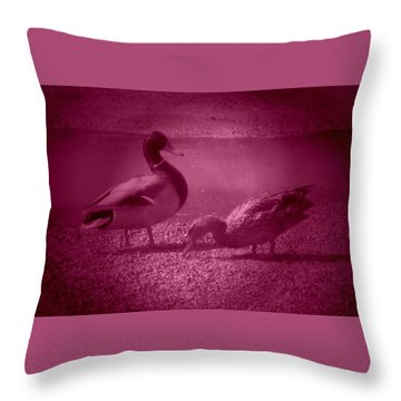 Ducks #1 Throw Pillow
