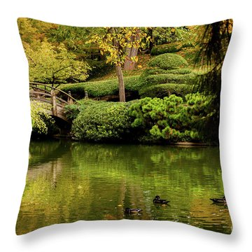 Throw Pillow featuring the photograph Ducks In Summertime by Iris Greenwell