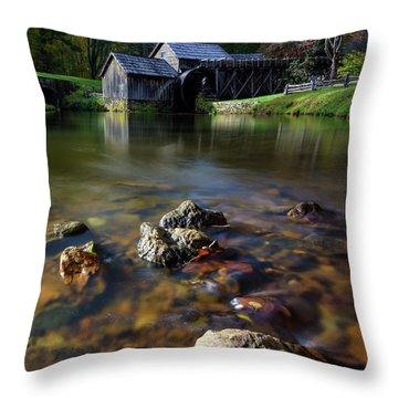 Ducks View Of Mabry Mill Throw Pillow