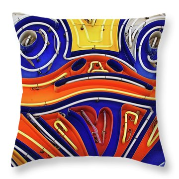 Throw Pillow featuring the photograph Ducky by Skip Hunt