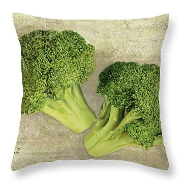 Due Broccoletti Throw Pillow