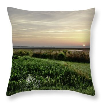 Due East Throw Pillow by Phill Doherty