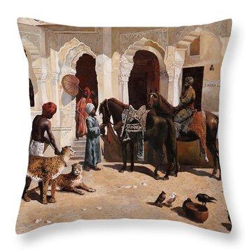 Due Ghepardi Throw Pillow