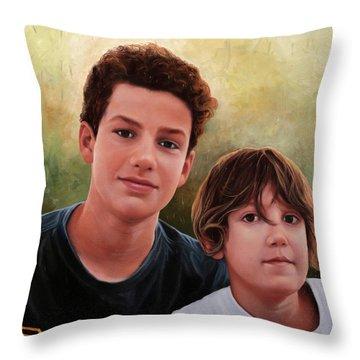 Due Ragazzi Throw Pillow