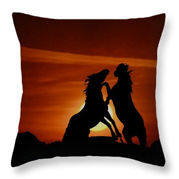 Duel At Sundown Throw Pillow