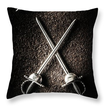 Confrontation Throw Pillows