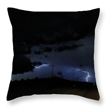 Dueling Lightning Bolts Throw Pillow