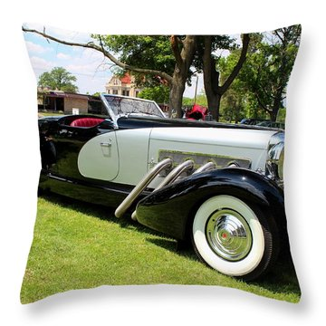 Throw Pillow featuring the photograph Duesenberg Vii by Michiale Schneider