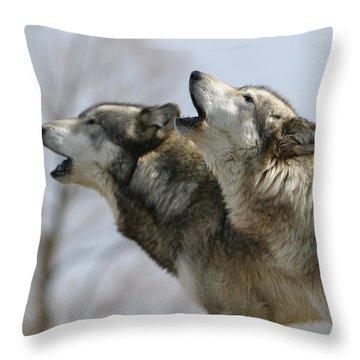 Duet Howl Throw Pillow