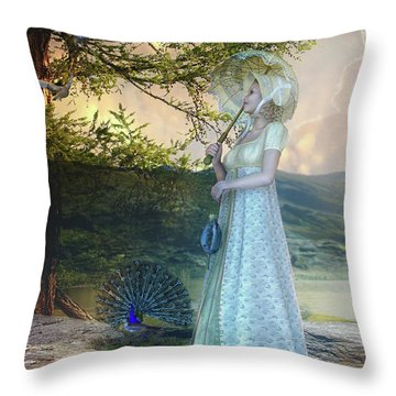 Duet Throw Pillow by Mary Hood