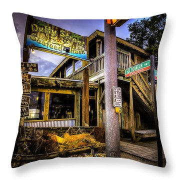 Duffy Street Seafood Shack Throw Pillow