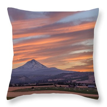 Throw Pillow featuring the photograph Dufur Views by Patricia Davidson