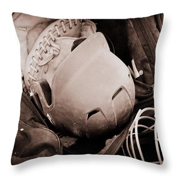 Dug Out Bug Out Throw Pillow