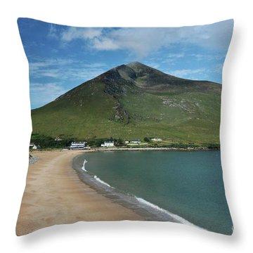 Dugort Beach Achill Throw Pillow