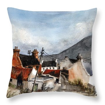 F 701  Dugort Clachan Achill Mayo Throw Pillow