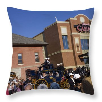 Duke And Duchess Of Cambridge 2 Throw Pillow by Donna Munro