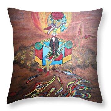 Duke At Sunset Throw Pillow by Marie Schwarzer