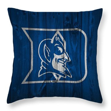 Duke Blue Devils Barn Door Throw Pillow by Dan Sproul