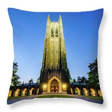 Duke Chapel At Dusk Throw Pillow