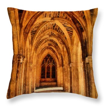 Duke Chapel Throw Pillow by Betsy Foster Breen