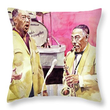 Duke Ellington And Johnny Hodges Throw Pillow