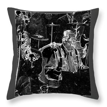Throw Pillow featuring the mixed media Duke Ellington by Charles Shoup