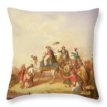Duke Ernest Of Saxe Cobourg Gotha's Tour To Egypt Throw Pillow
